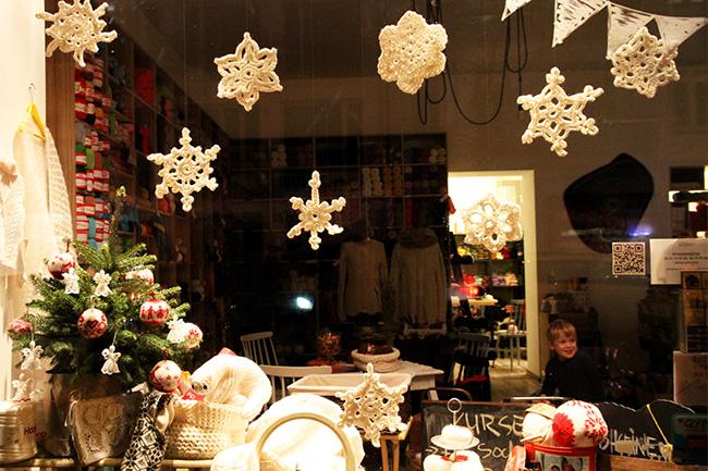 Weihnachtsdeko Schneeflocken Häkeln Mit Wollen Berlin