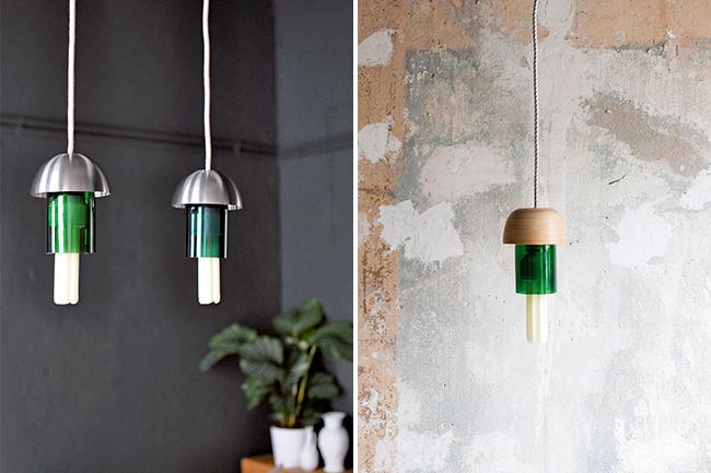 designer lampe aus einer flasche selber machen. Black Bedroom Furniture Sets. Home Design Ideas