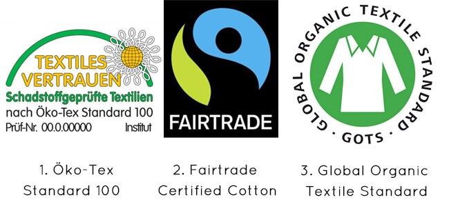 """ccf200e5f662bc Das 1. Label """"Öko Tex Standard 100"""" ist ein etabliertes Siegel und auf  vielen Bio-Stoffen zu finden. Innerhalb dieses Prüf- und  Zertifizierungssystems ..."""