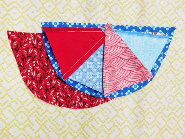 Nadelkissen patchwork step2