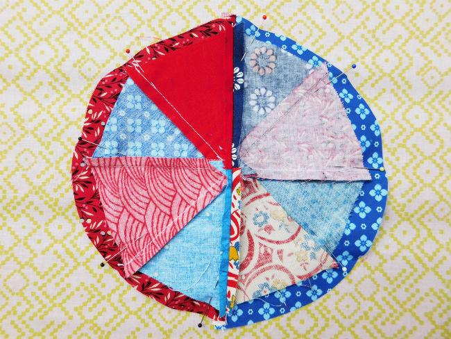 Nadelkissen patchwork step4