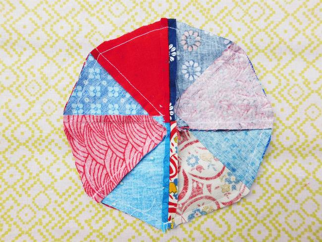 Nadelkissen patchwork step5
