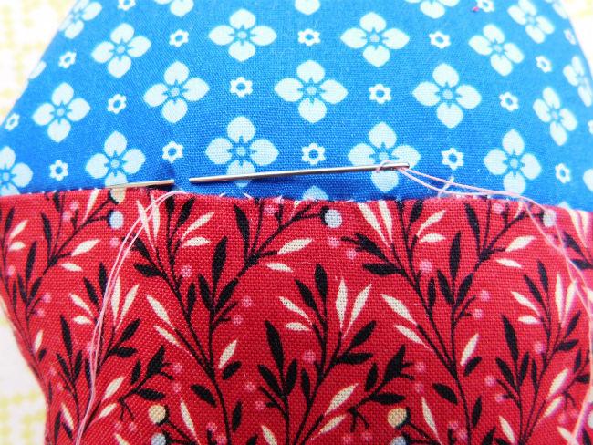 Nadelkissen patchwork step7