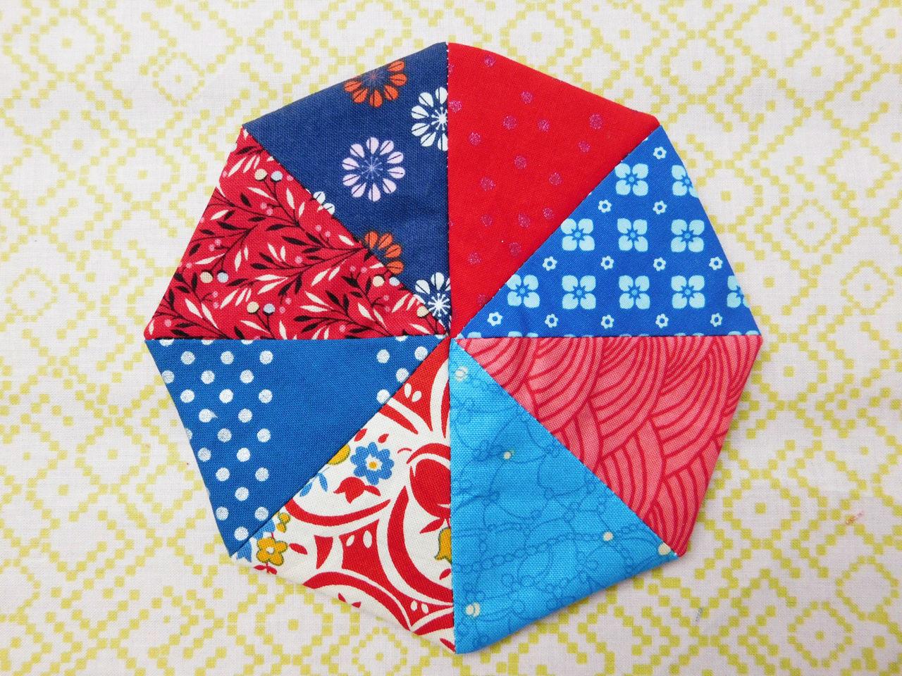 Nadelkissen patchwork step6