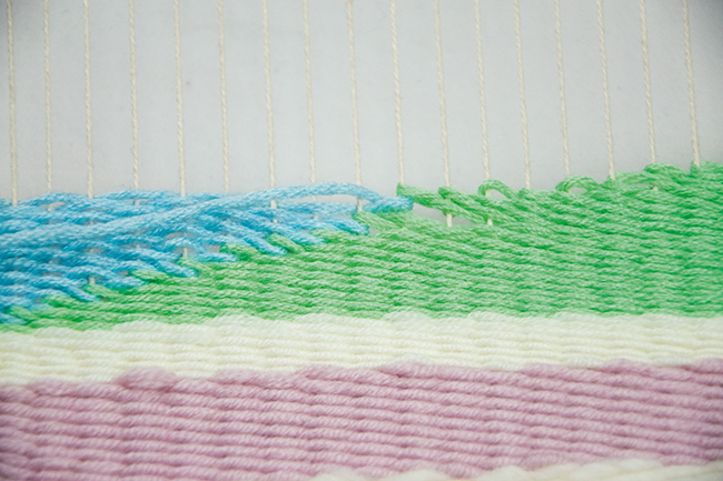 Wandteppich step 4