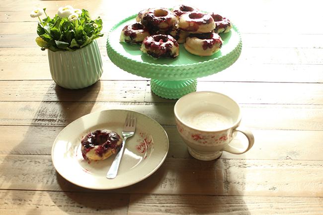 Blaubeer donuts 15
