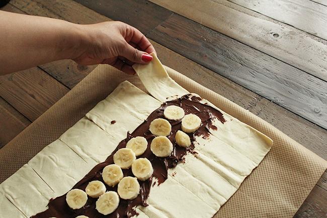 Blätterteig schoko banane step8
