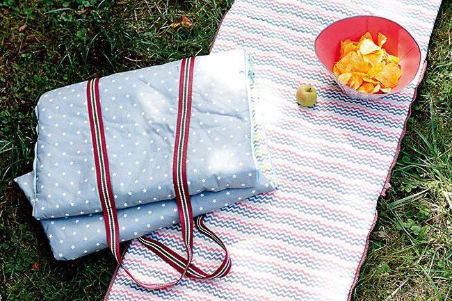 Picknickdecke nähen