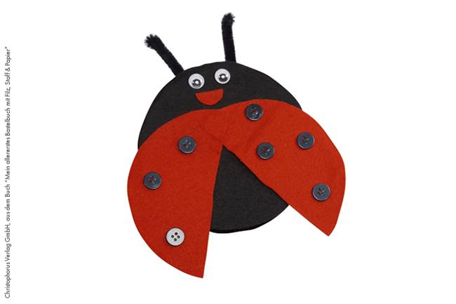 Marienkäfer aus filz basteln cover