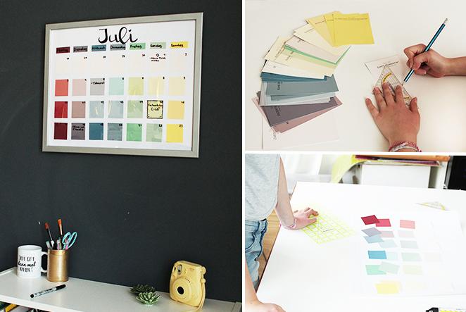 Kalender aus bilderrahmen diy main