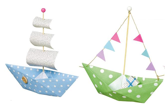 Papier-Boote für den Kindergeburtstag basteln!