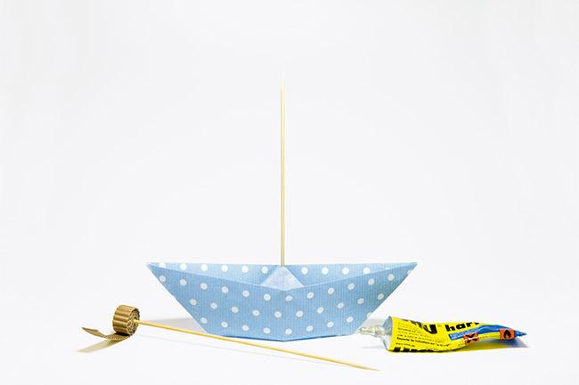 Schiff aus papier basteln step 1