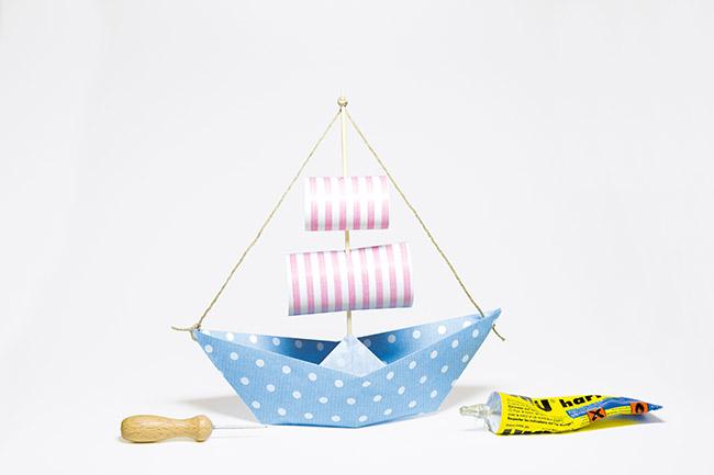 Schiff aus papier basteln step 3