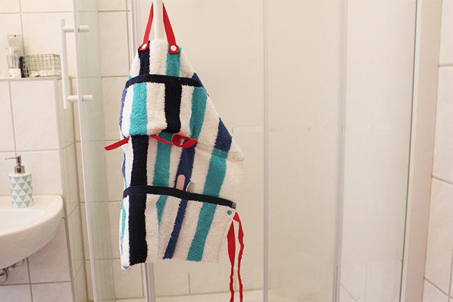 Upcycling bade utensilo handtuch nähen cover
