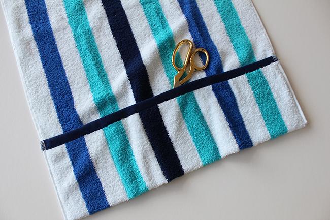 Upcycling bade utensilo handtuch nähen step 1