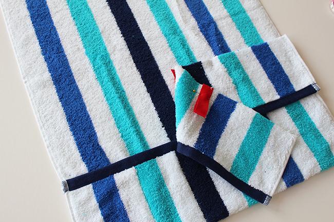 Upcycling bade utensilo handtuch nähen step 2