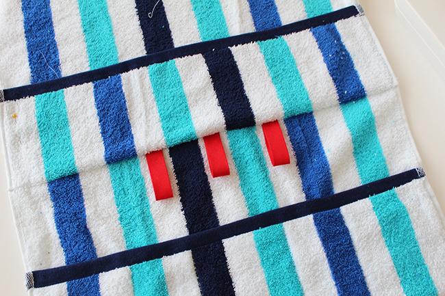 Upcycling bade utensilo handtuch nähen step 2a