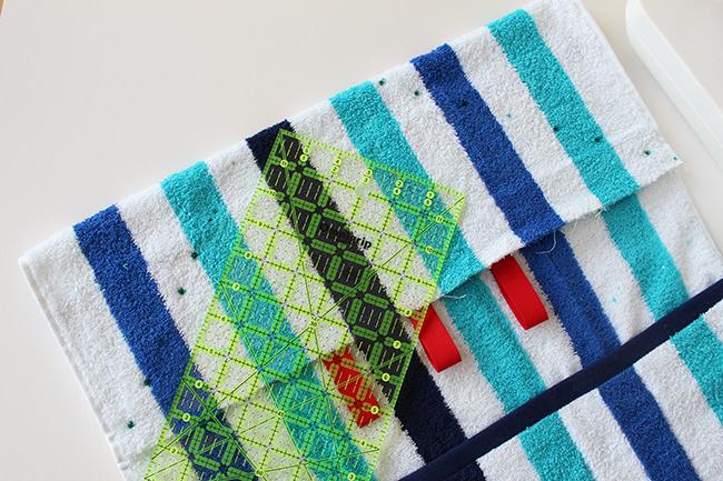 Upcycling bade utensilo handtuch nähen step 3