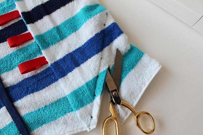 Upcycling bade utensilo handtuch nähen step 3a