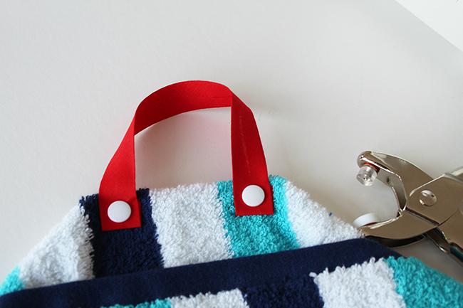 Upcycling bade utensilo handtuch nähen step 4