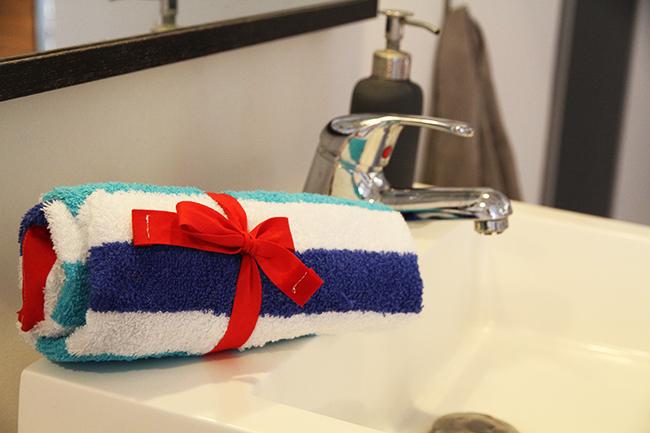Bade utensilo handtuch nähen cover