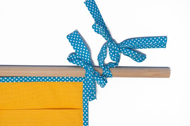 Wand utensilo für kinder nähen step 4
