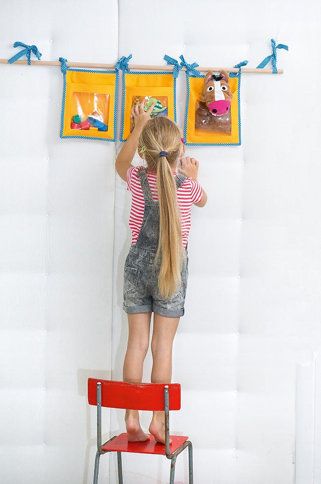Wand utensilo für kinder nähen ganz