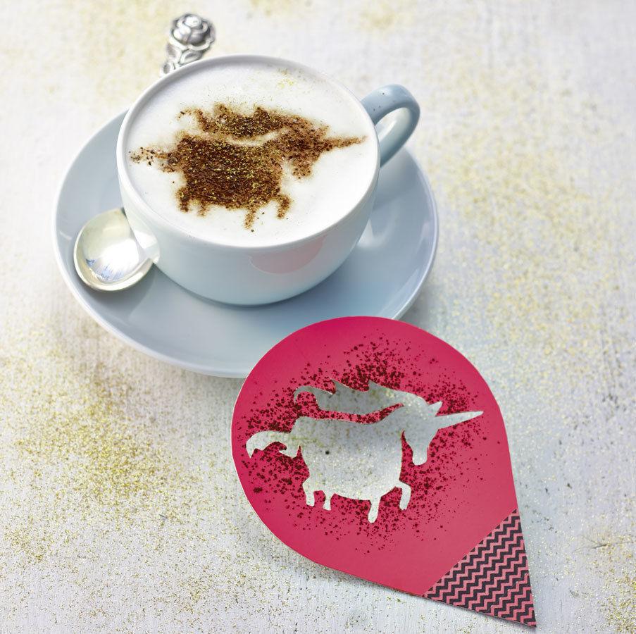 10 diy projekte für die küche cappuccino schablone