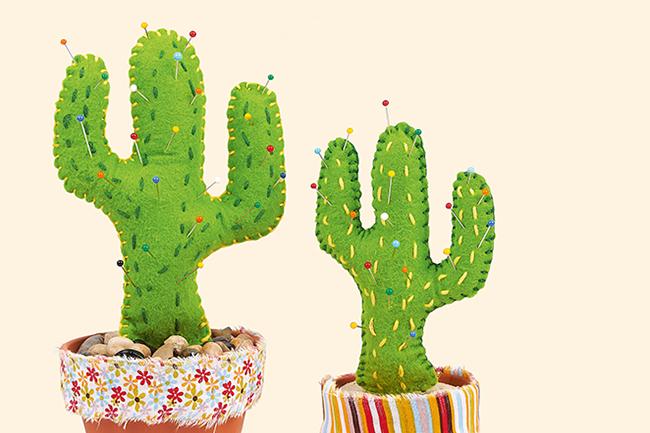 sch n stachelig nadelkissen in kaktus form n hen. Black Bedroom Furniture Sets. Home Design Ideas