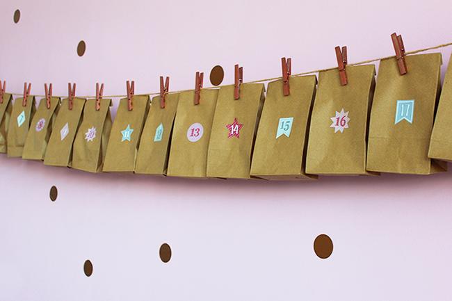 Adventskalender aus papiertüten basteln cover