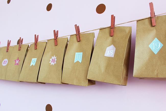 Adventskalender aus papiertüten basteln final 1