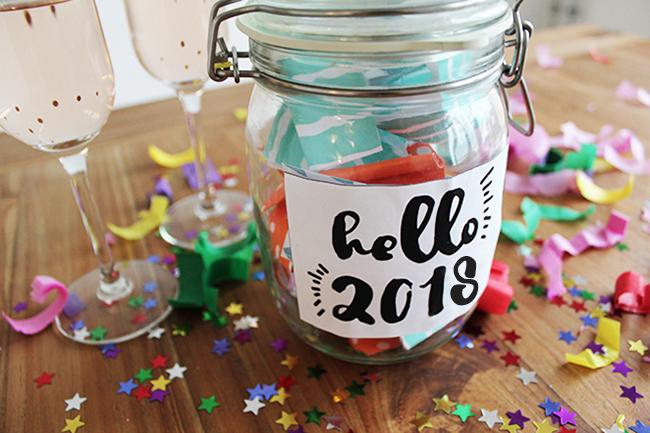 Glücksglas positivity jar gute vorsätze 2018 cover