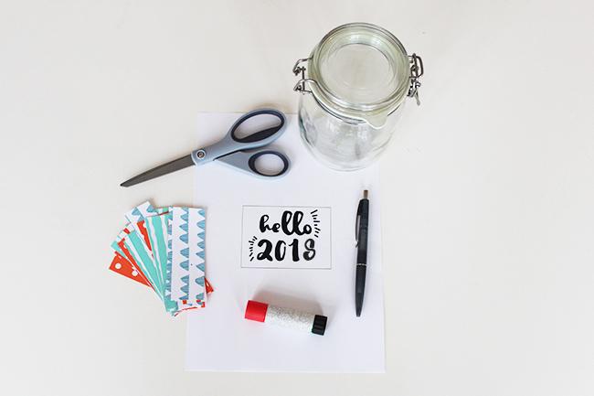 Glücksglas positivity jar gute vorsätze 2018 step 1