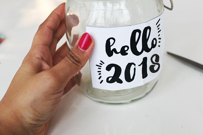 Glücksglas positivity jar gute vorsätze 2018 step 3