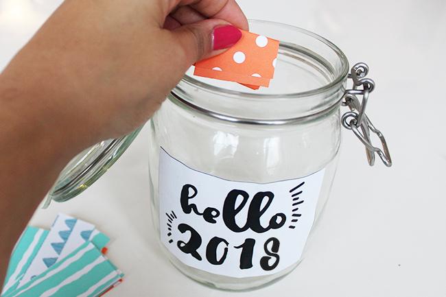 Glücksglas positivity jar gute vorsätze 2018 step 5