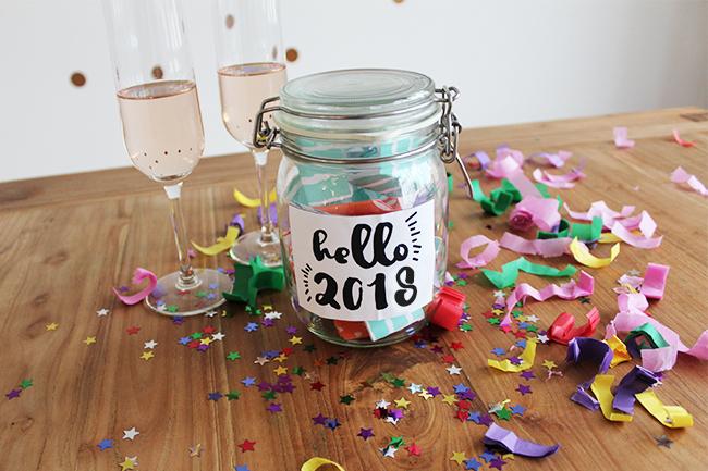 Glücksglas positivity jar gute vorsätze 2018 step 6