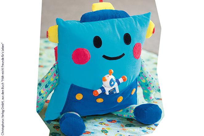 Roboter kissen für kinder nähen main