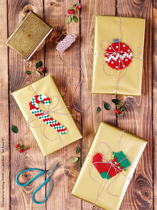 Anhänger Für Weihnachtsgeschenke Aus Bügelperlen Basteln