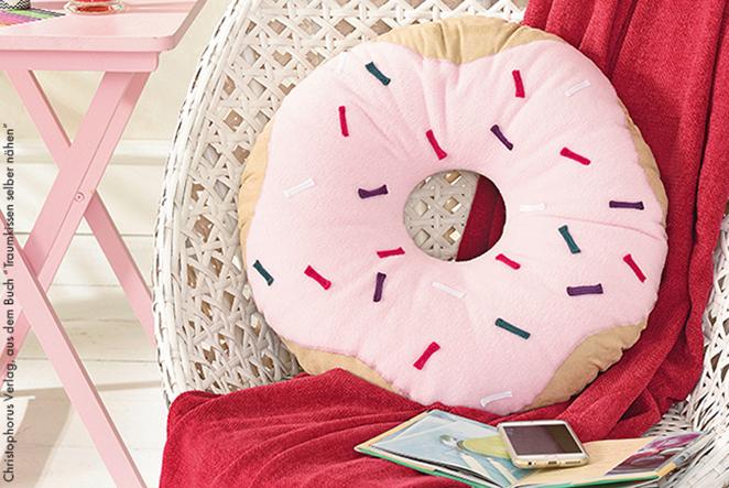 Donut kissen selber nähen main