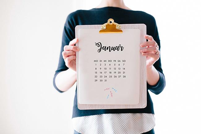 Kalender 2018 freebie zum ausdrucken pdf cover