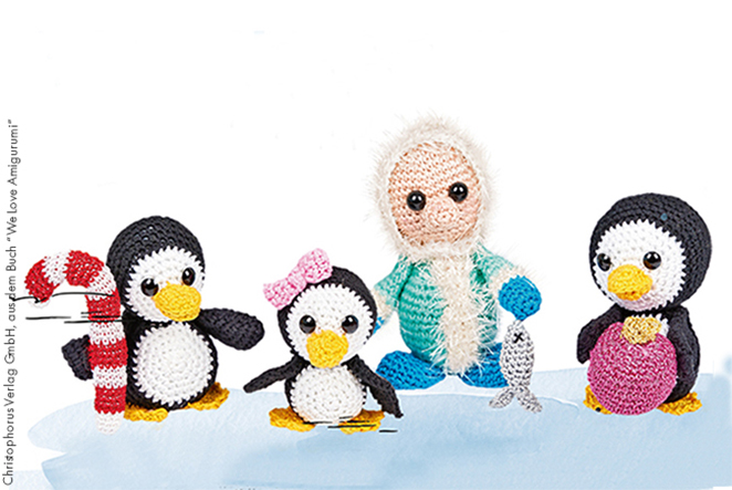Amigurumi pinguine am nordpol main