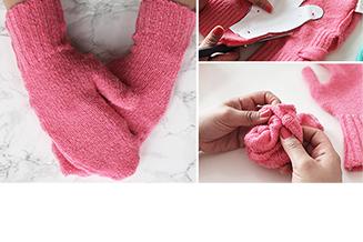 Upcycling handschuhe aus altem pulli nähen tile