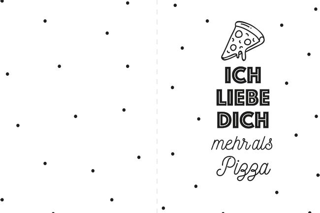 Valentinstag karten printables freebie ich liebe dich mehr als pizza