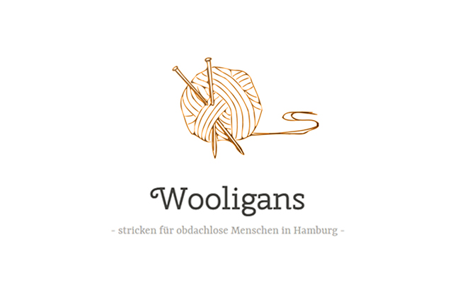 Wooligans hamburg stricken für obdachlose charity makerist logo