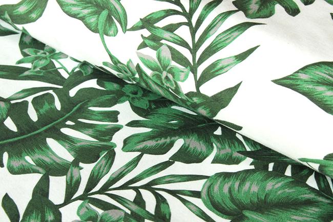Die 10 schönsten frühlingsstoffe jersey monstera pflanze print