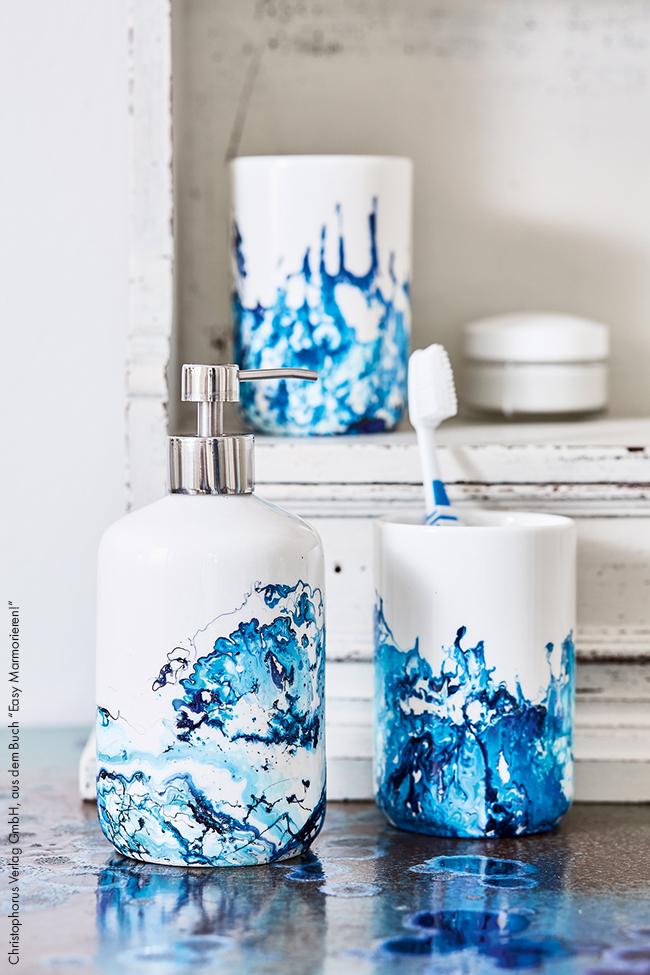 Badezimmer accessoires marmorieren ganz
