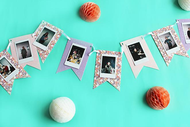 Wimpelkette mit polaroids tesa basteln main