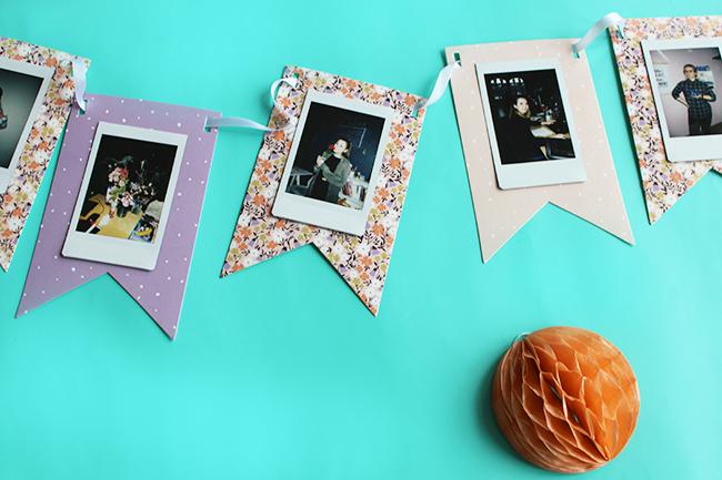 Wimpelkette mit polaroids tesa basteln detail