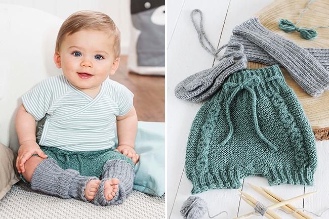Baby bloomers windelhöschen stricken collage