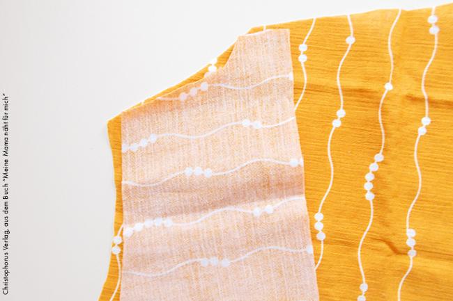 Kleidchen aus musselin stoff nähen step 1